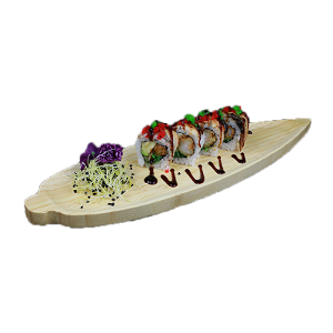Foto Black dragon roll half